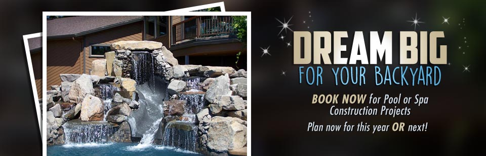 Dream big for your backyard - book now for your construction project.