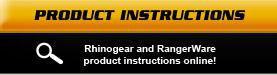 RhinoGear and RangerWare product instructions online!