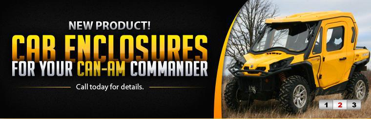 Get cab enclosures for your Can-Am Commander! Call today for details.
