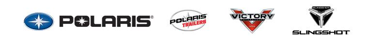 We carry products from Polaris, Victory, and Slingshot.