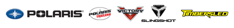 We carry products from Polaris, Polaris Trailers, Victory, Slingshot, and Timbersled.