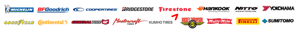 We carry products from Michelin®, BFGoodrich®, Cooper, Bridgestone, Firestone, Hankook, Nitto, Yokohama, Goodyear, Continental, General, Mastercraft, Kumho, Mickey Thompson, Multi-Mile, Pirelli, and Sumitomo.