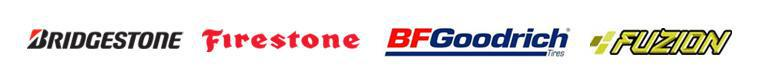 We carry products from Bridgestone, Firestone, BR Goodrich, and Fuzion.
