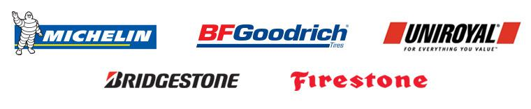 We carry products from Michelin®, BFGoodrich®, Uniroyal®, Bridgestone, and Firestone.