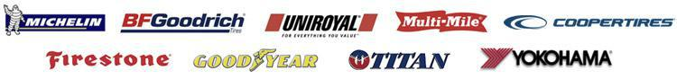 We carry products from Michelin®, BFGoodrich®, Uniroyal®, Multi-Mile, Cooper, Firestone, Goodyear, Titan, and Yokohama.