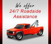 We offer 24/7 roadside assistance!