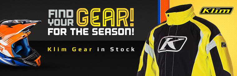 Klim Gear in Stock: Click here to shop online.