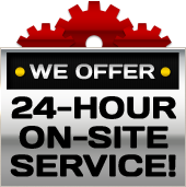 We offer 24-hour on-site service!