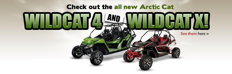 Click here to check out the all new Arctic Cat Wildcat 4 and Wildcat X!