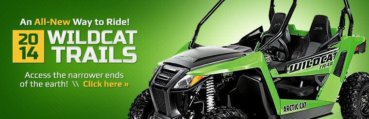Access the narrower ends of the earth on a 2014 Arctic Cat Wildcat Trail!