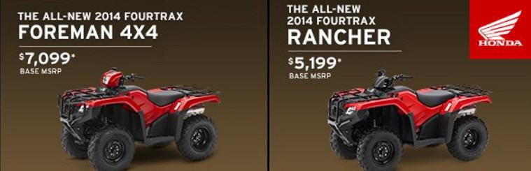 Honda Foreman and Rancher ATV's