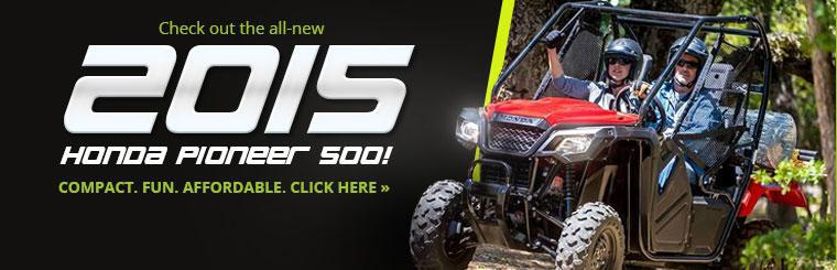 Check out the all-new 2015 Honda Pioneer 500!