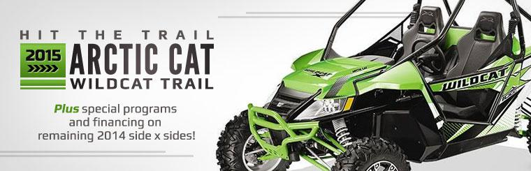 2015 Arctic Cat Wildcat Trail: Click here to view the models.