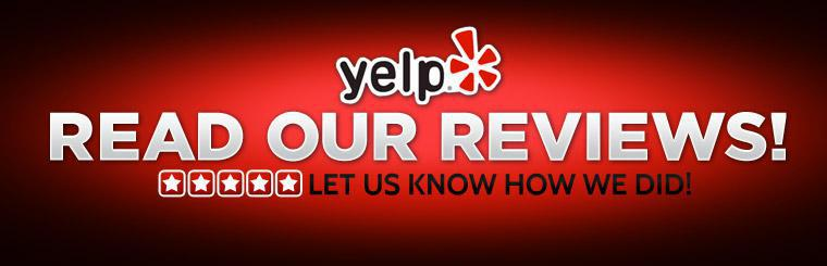 Read our reviews or let us know how we did!