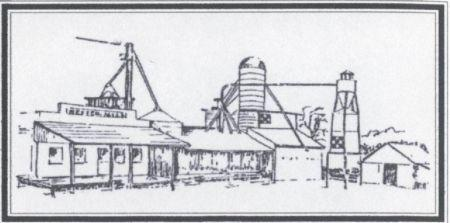 Historical Drawing of Dexter Mill