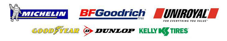 We carry products by Michelin®, BFGoodrich®, Uniroyal®, Goodyear, Dunlop, and Kelly.
