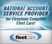 National Account Service Provider for Firestone Complete Fleet Care!