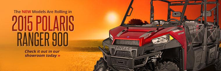 The new models are rolling in. Click here to check out the 2015 Polaris Ranger 900.