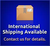 International shipping available. Contact us for details.