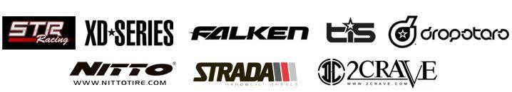 We carry products from STR Racing, XD Wheels, Falken, TIS, Dropstars, Nitto, Strada, and 2Crave.