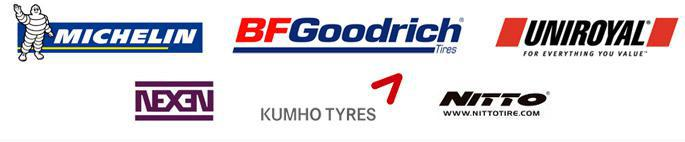 We carry products from Michelin®, BFGoodrich®, Uniroyal®, Nexen, Kumho, and Nitto.
