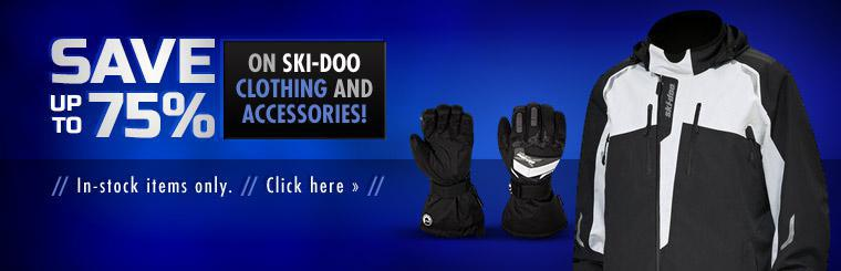 Save up to 75% on in-stock Ski-Doo clothing and accessories!