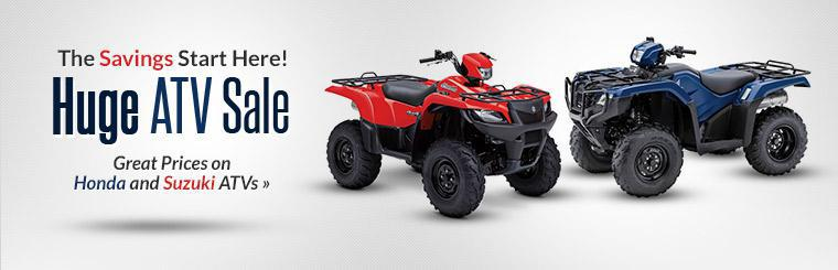 Huge ATV Sale: Get great prices on Honda and Suzuki ATVs!