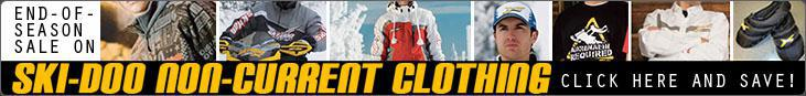 End-of-Season Sale on Ski-Doo Non-Current Clothing: Click here and save!