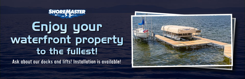 Enjoy your waterfront property to the fullest! Ask about our docks and lifts! Installation is available! Contact us for details.