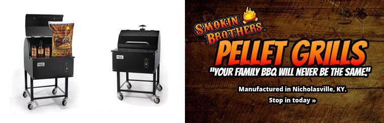 Smokin Brothers Pellet Grills: Stop in today to see our selection.