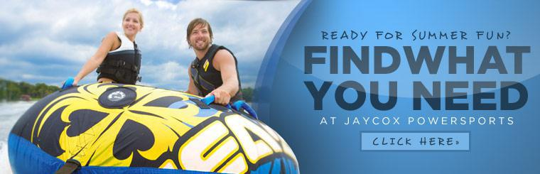 Ready for Summer Fun? Find what you need at Jaycox Powersports. Click here to contact us.