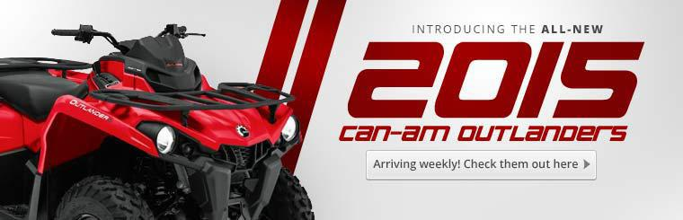 Introducing the All-New 2015 Can-Am Outlanders: Click here to view the models.