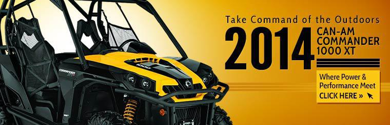 2014 Can-Am Commander 1000 XT: Where power and performance meet.