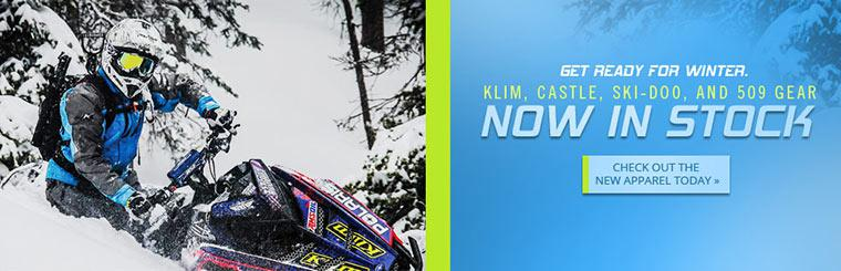 Klim, Castle, Ski-Doo, and 509 Gear in Stock: Check out the new apparel today!