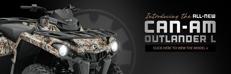 Introducing the All-New Can-Am Outlander L: Click here to view the model.