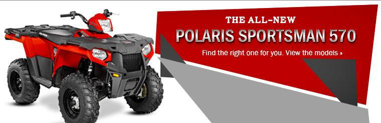 Check out the 2014 Polaris Sportsman 570.