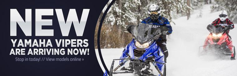 New Yamaha Vipers are arriving now! Click here to view models online.