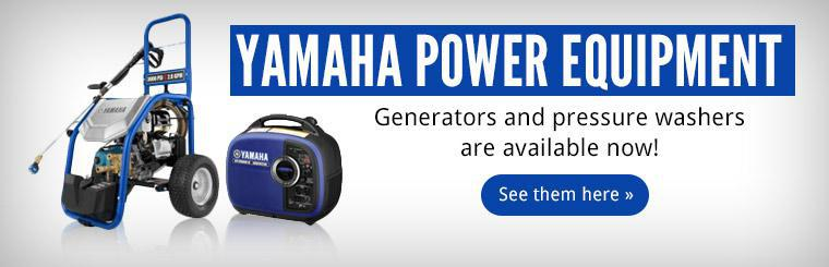 Yamaha Power Equipment generators and pressure washers are available now! Click here to shop.