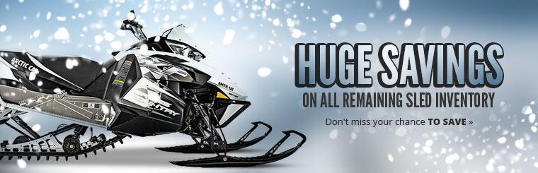 Huge Savings on All Remaining Sled Inventory: Don't miss your chance to save!