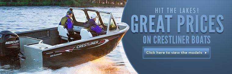 Great Prices on Crestliner Boats: Click here to view the models.