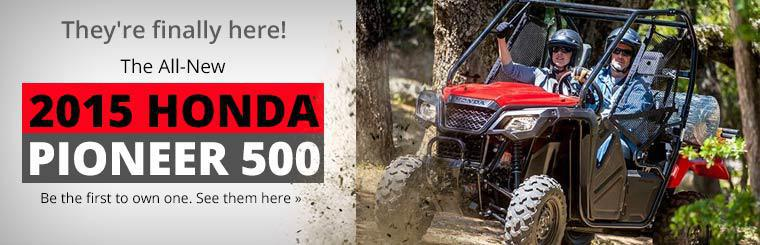 2015 Honda Pioneer 500: Click here to view the model.