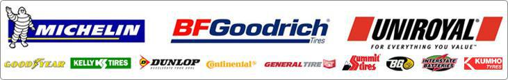 We carry great products from Michelin®, BFGoodrich®, Uniroyal®, Goodyear, Kelly, Dunlop, Continental, General, Summit, Kumho, Interstate Batteries and BG.