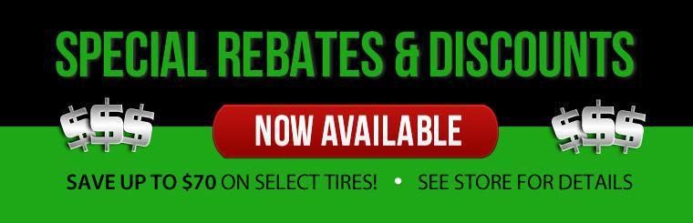 Save up to $70 on select tires with this coupon.