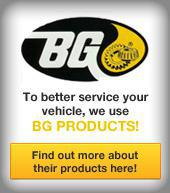 To better service your vehicle, we use BG products!  Find out more about their products here!