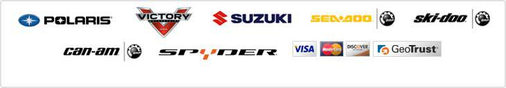 We proudly offer products from Polaris, Victory, Suzuki, Sea-Doo, Ski-Doo, Can-Am, and Spyder. We accept Visa, MC, and Discover.