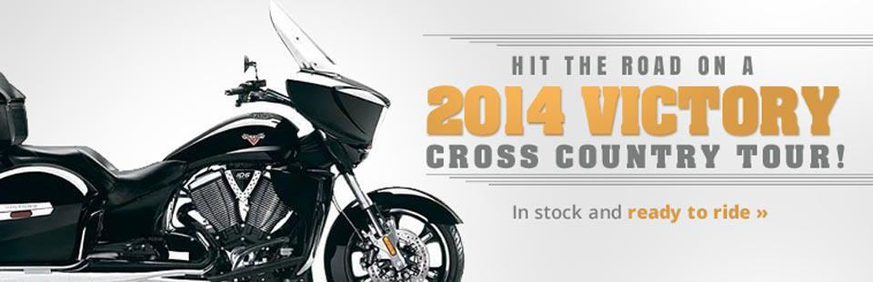 Hit the road on a 2014 Victory Cross Country Tour!
