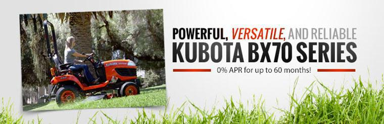 Kubota BX70 Series: Get 0% APR for up to 60 months!