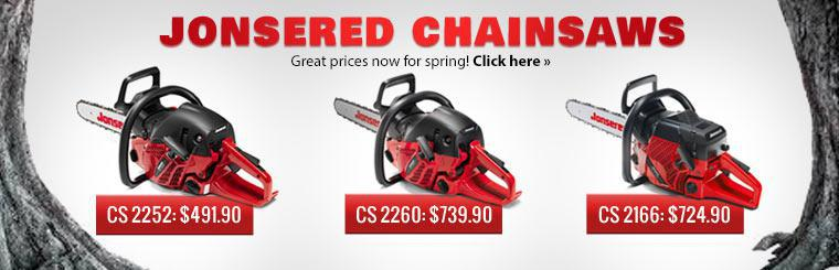 Great Prices on Jonsered Chainsaws: Click here to view the models.