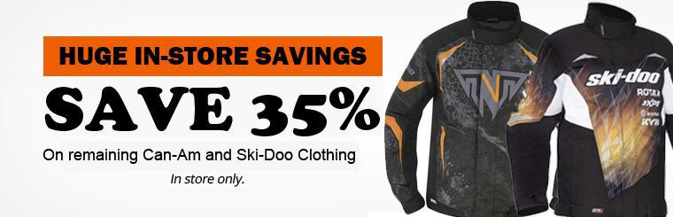 Save 35% - In Stock Clothing
