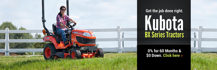 Click here to view our selection of Kubota BX series tractors!